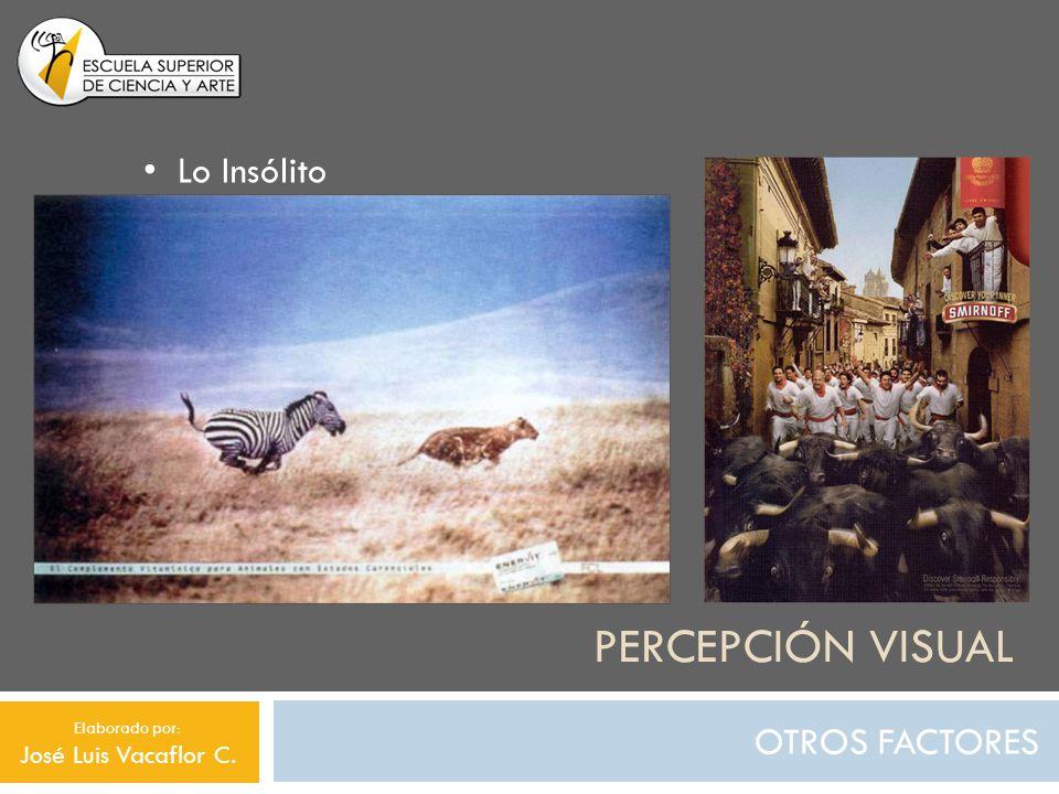 Percepción visual Lo Insólito OTROS FACTORES José Luis Vacaflor C.