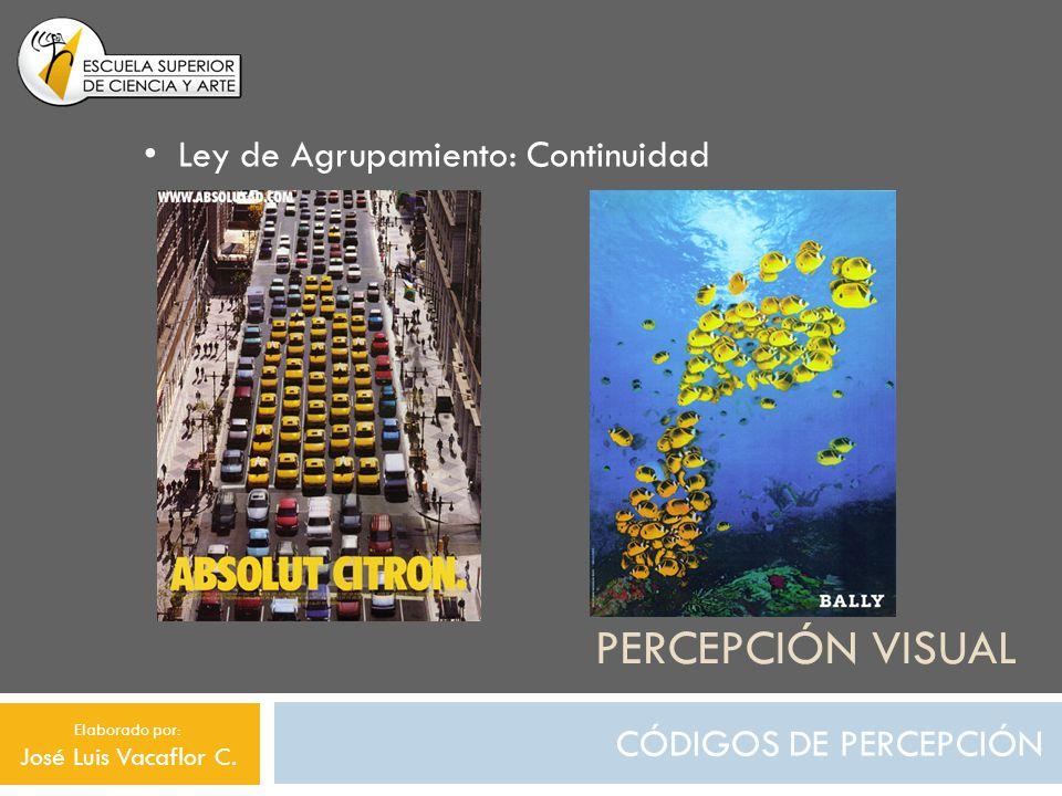 Percepción visual Ley de Agrupamiento: Continuidad