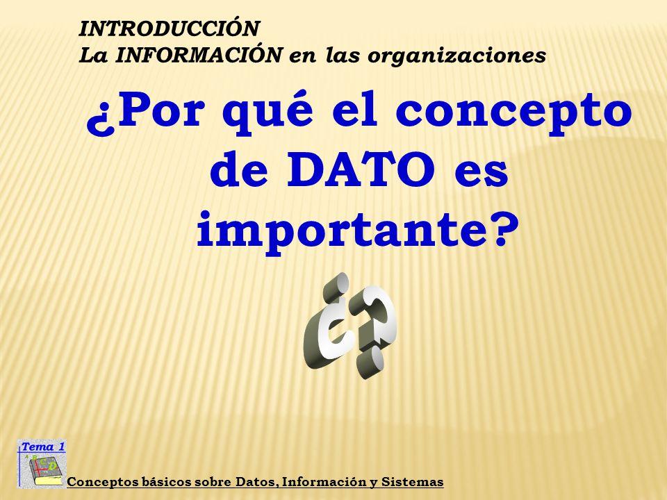 ¿Por qué el concepto de DATO es importante