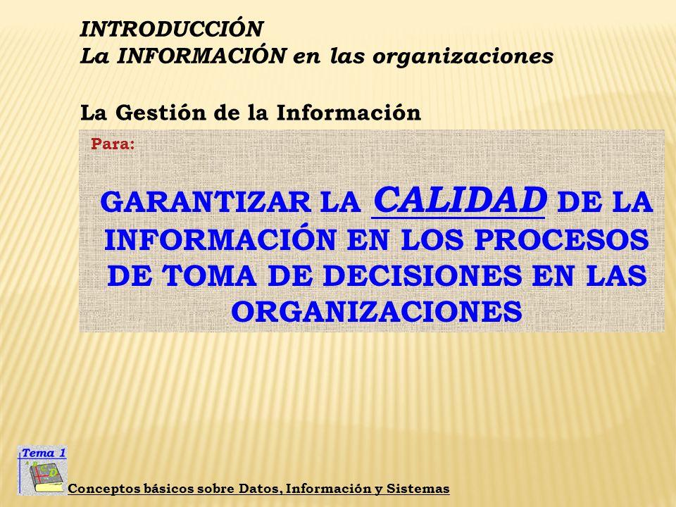 La Gestión de la Información