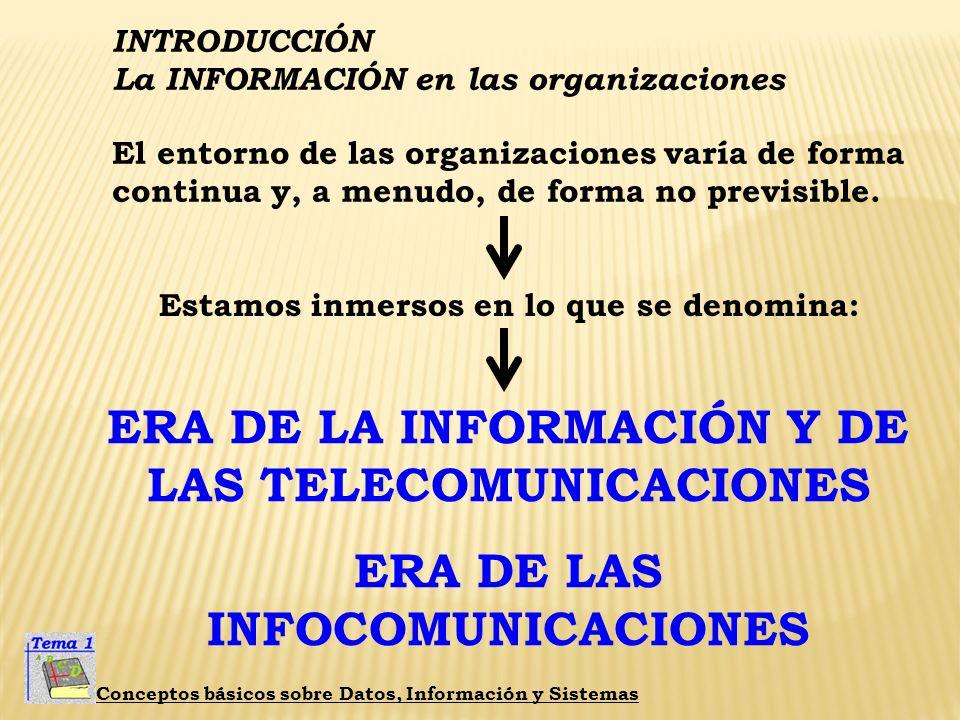 ERA DE LA INFORMACIÓN Y DE LAS TELECOMUNICACIONES