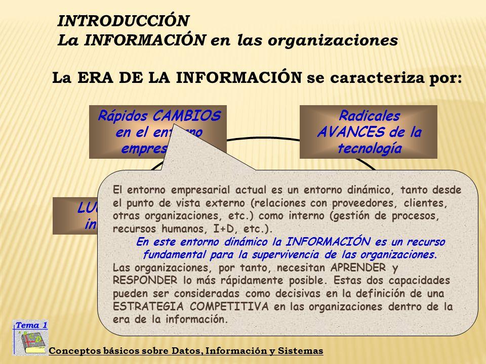 La INFORMACIÓN en las organizaciones