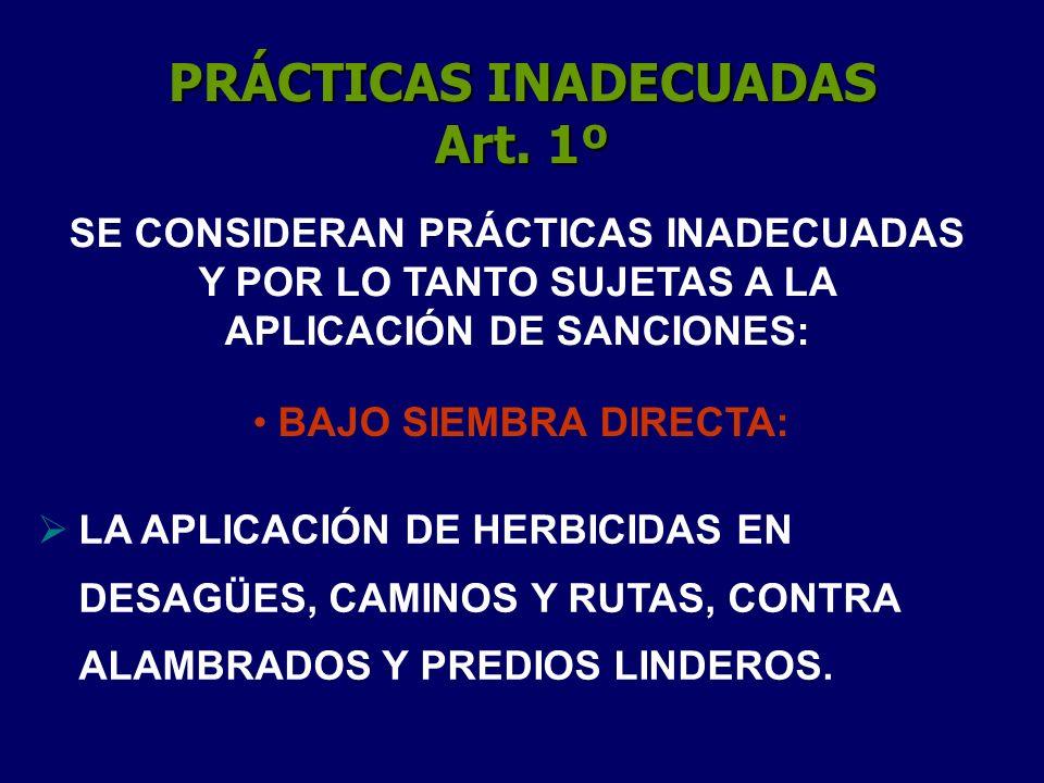 PRÁCTICAS INADECUADAS Art. 1º