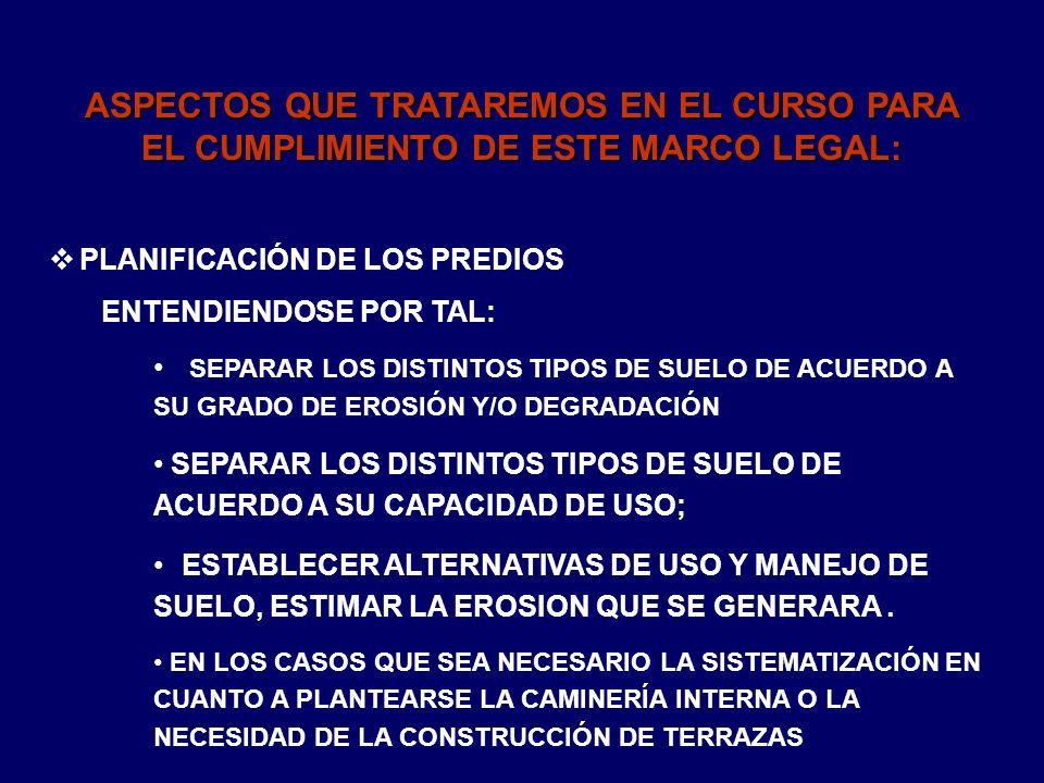 ASPECTOS QUE TRATAREMOS EN EL CURSO PARA EL CUMPLIMIENTO DE ESTE MARCO LEGAL: