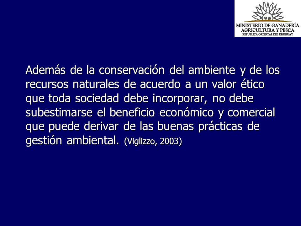 Además de la conservación del ambiente y de los recursos naturales de acuerdo a un valor ético que toda sociedad debe incorporar, no debe subestimarse el beneficio económico y comercial que puede derivar de las buenas prácticas de gestión ambiental.