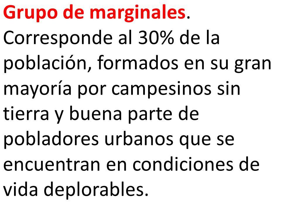 Grupo de marginales.