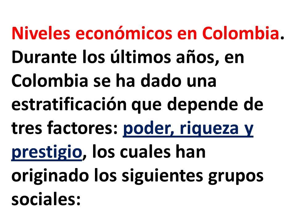 Niveles económicos en Colombia