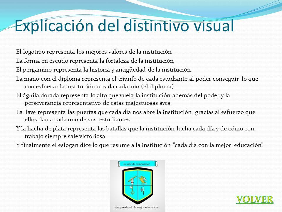 Explicación del distintivo visual