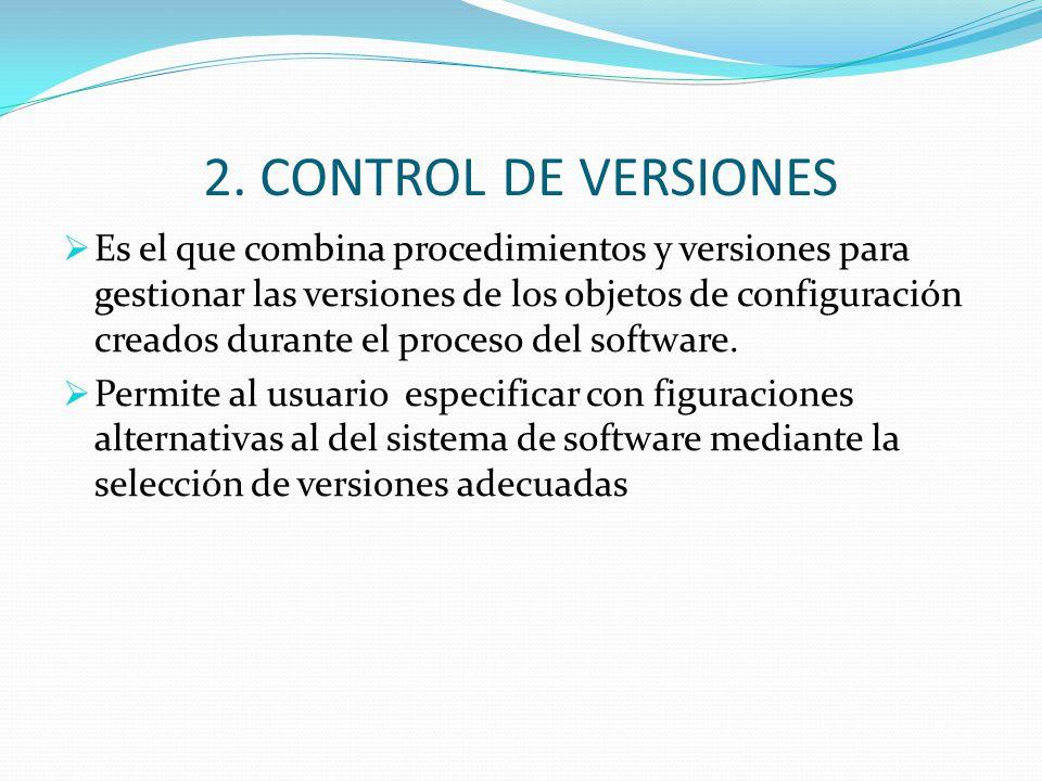 2. CONTROL DE VERSIONES