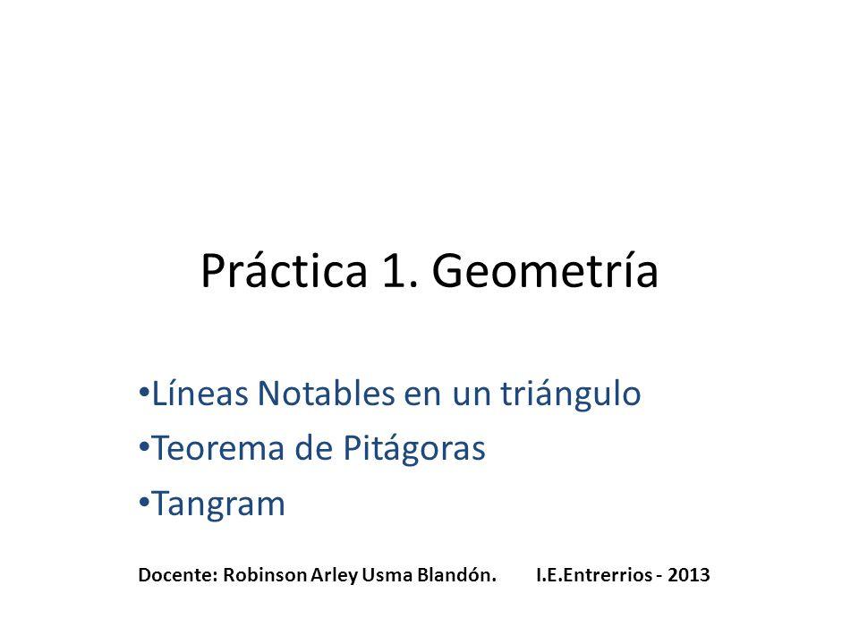Práctica 1. Geometría Líneas Notables en un triángulo