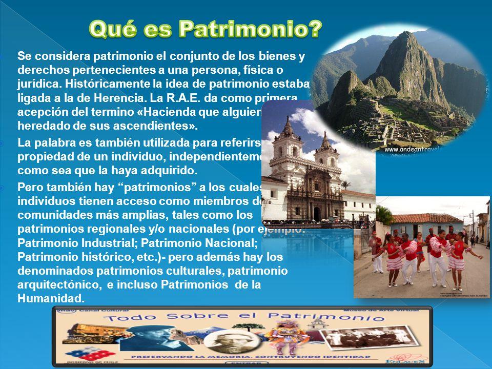 Qué es Patrimonio