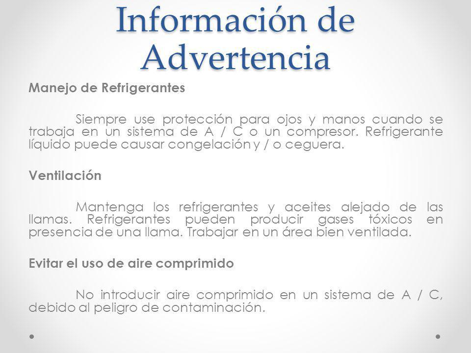 Información de Advertencia