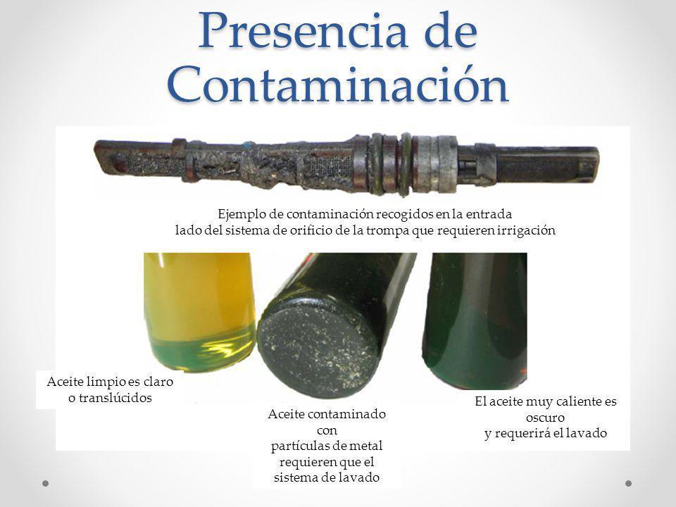 Presencia de Contaminación