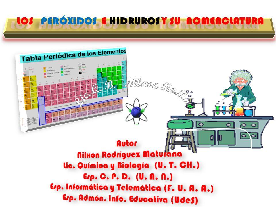 LOS HIDRÓXIDOS Y SU NOMENCLATURA