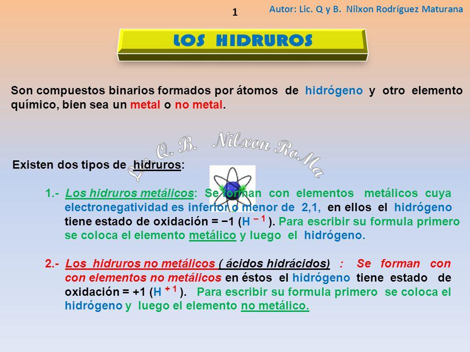 Lic. Q. B. Nilxon RoMa LOS HIDRUROS 1