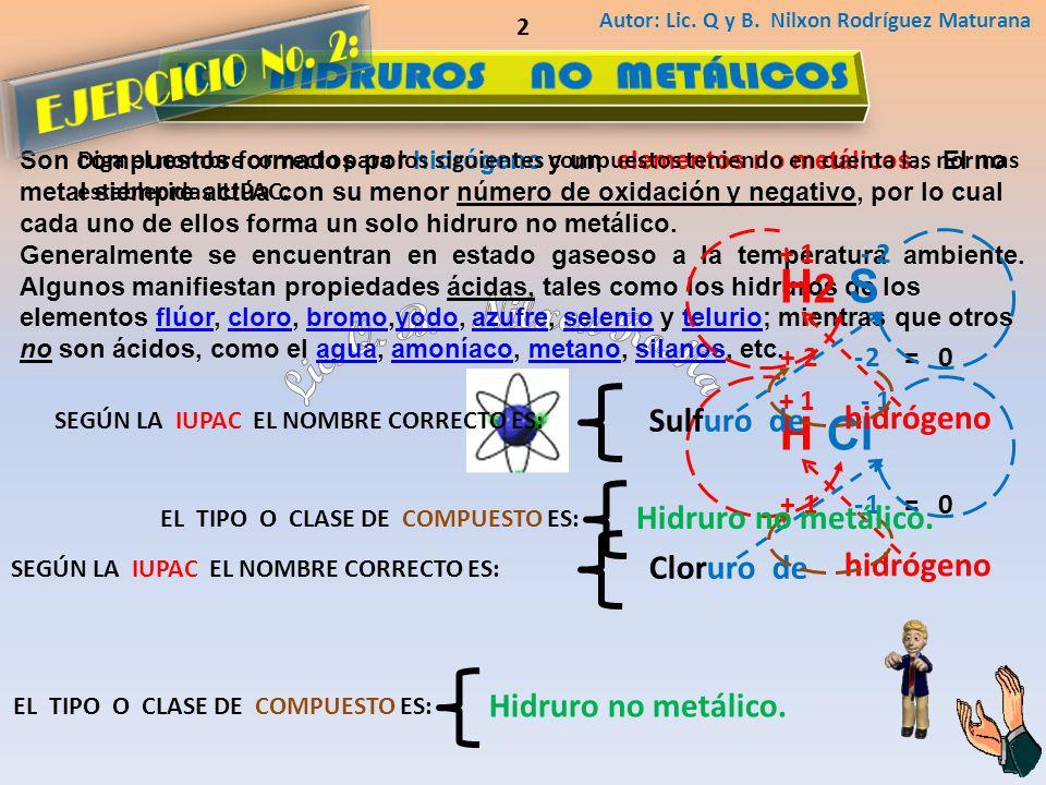 LOS HIDRUROS NO METÁLICOS