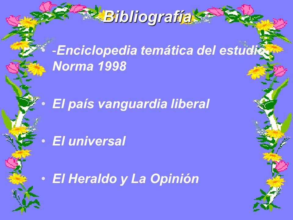 Bibliografía -Enciclopedia temática del estudio Norma 1998