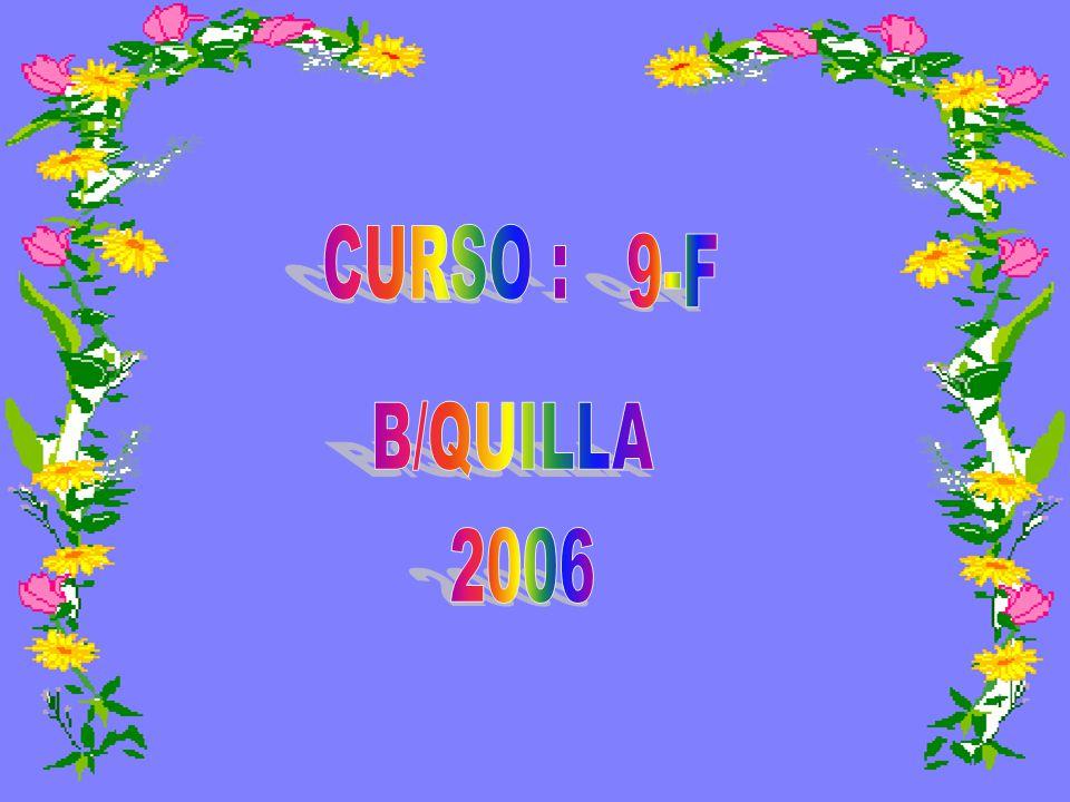 CURSO : 9-F B/QUILLA 2006