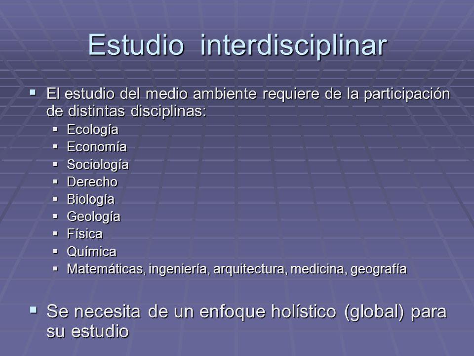 Estudio interdisciplinar