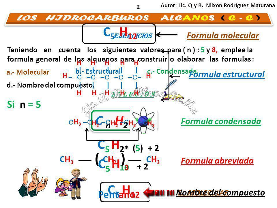 LOS HIDROCARBUROS ALCANOS ( C - C )