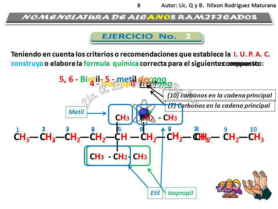 NOMENCLATURA DE ALCANOS RAMIFICADOS