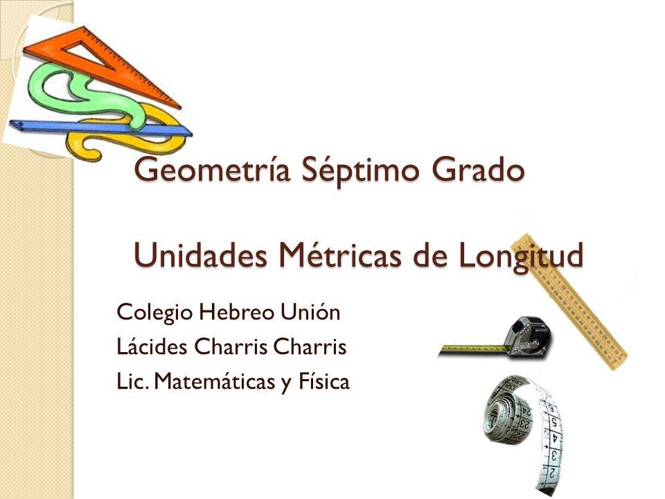 Geometría Séptimo Grado Unidades Métricas de Longitud
