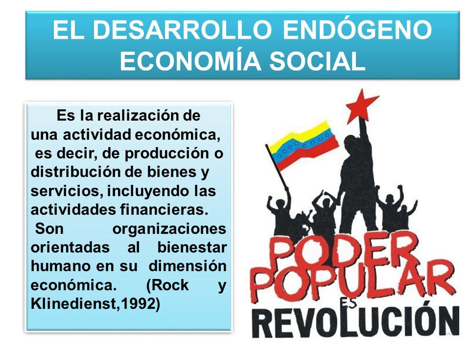 EL DESARROLLO ENDÓGENO ECONOMÍA SOCIAL