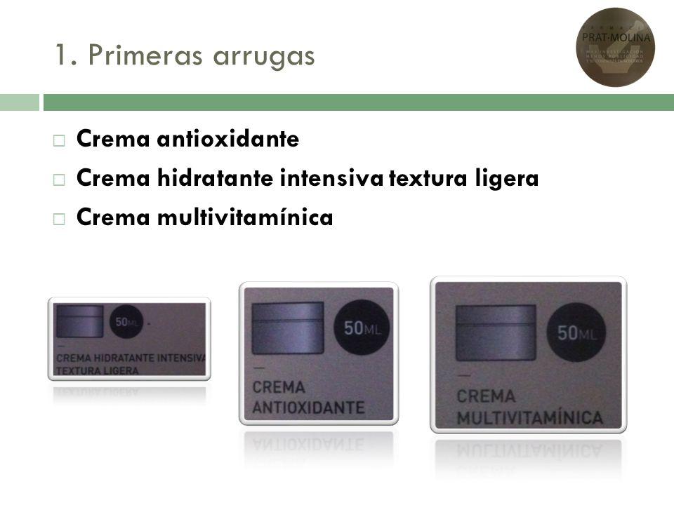 1. Primeras arrugas Crema antioxidante