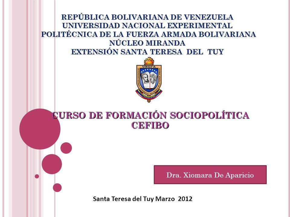 CURSO DE FORMACIÓN SOCIOPOLÍTICA CEFIBO