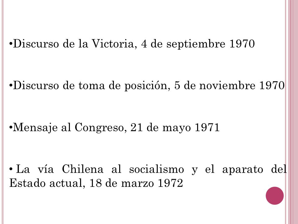 Discurso de la Victoria, 4 de septiembre 1970