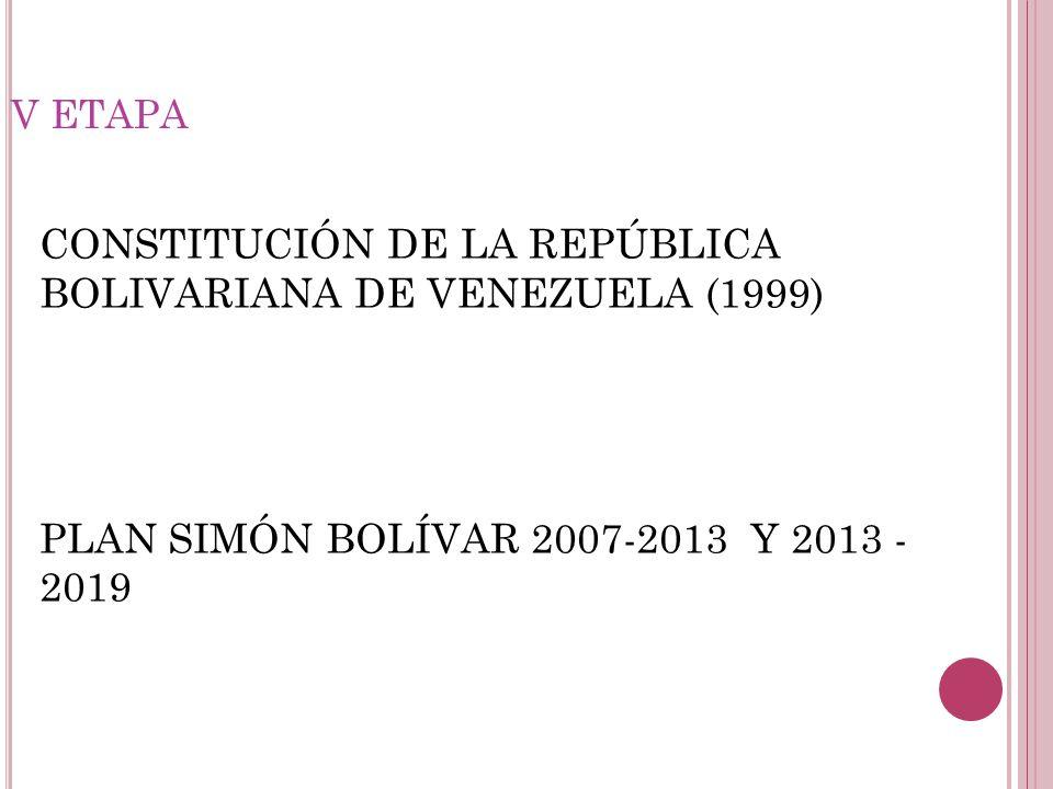 CONSTITUCIÓN DE LA REPÚBLICA BOLIVARIANA DE VENEZUELA (1999)