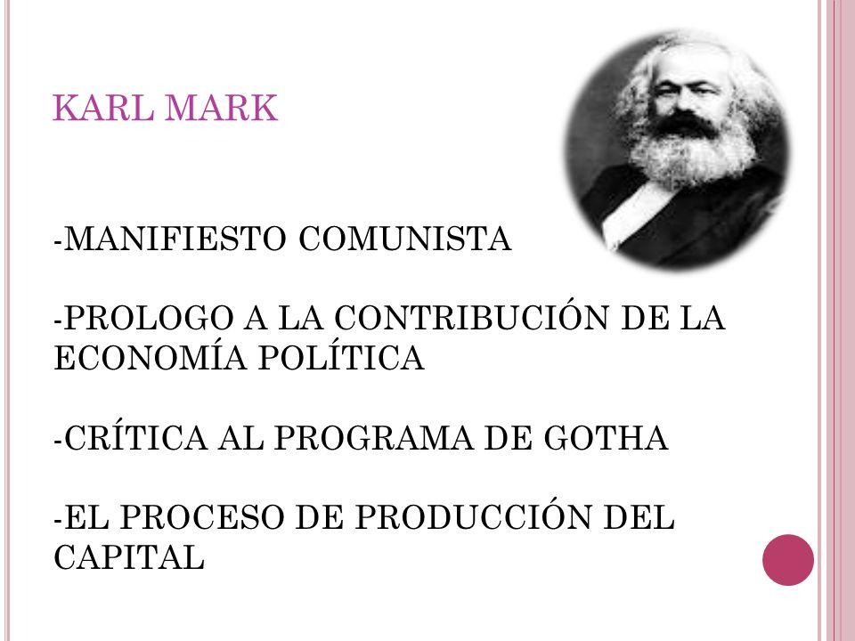 KARL MARK MANIFIESTO COMUNISTA