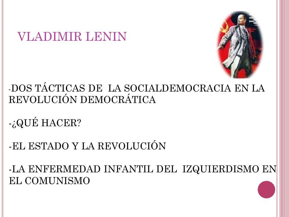VLADIMIR LENIN -¿QUÉ HACER -EL ESTADO Y LA REVOLUCIÓN