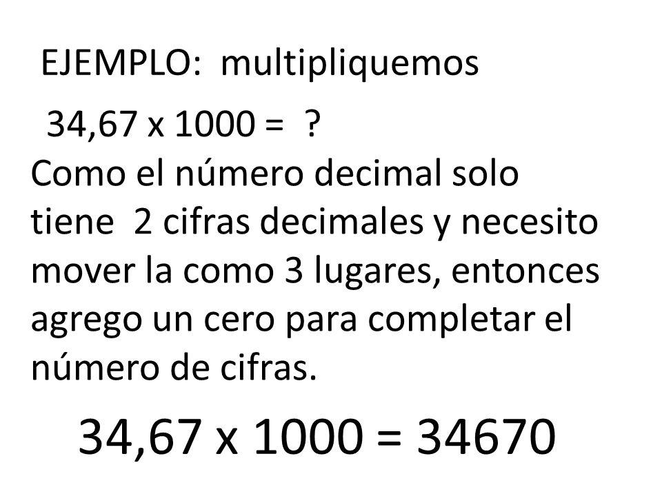 EJEMPLO: multipliquemos