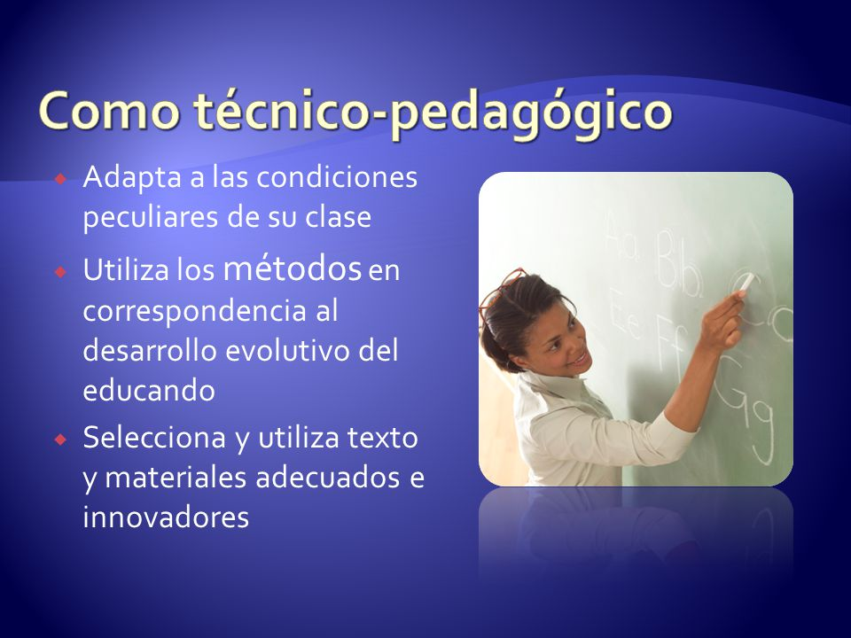 Como técnico-pedagógico