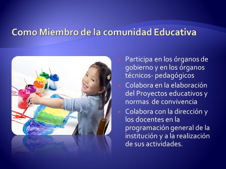 Como Miembro de la comunidad Educativa