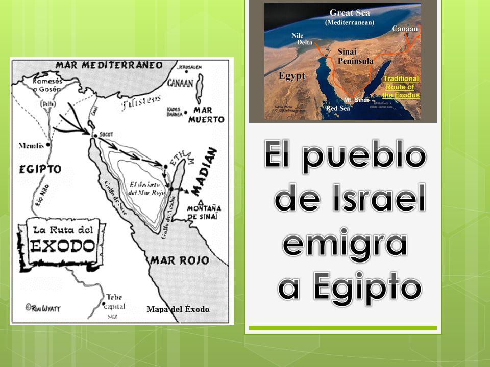 El pueblo de Israel emigra a Egipto