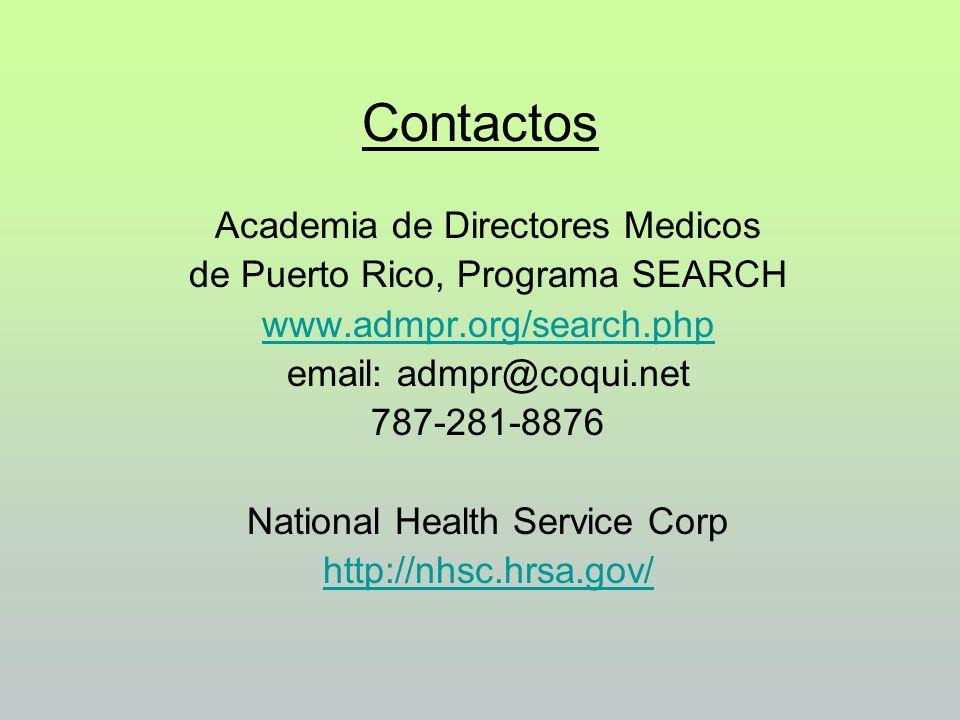 Contactos Academia de Directores Medicos