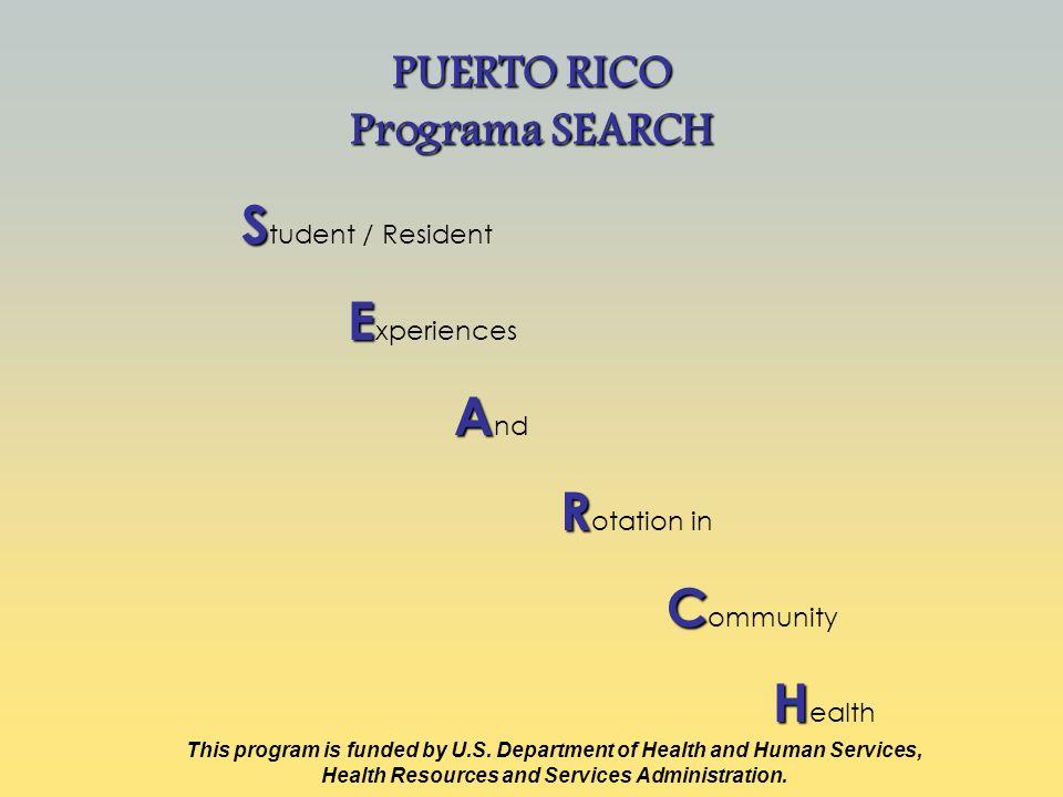 PUERTO RICO Programa SEARCH