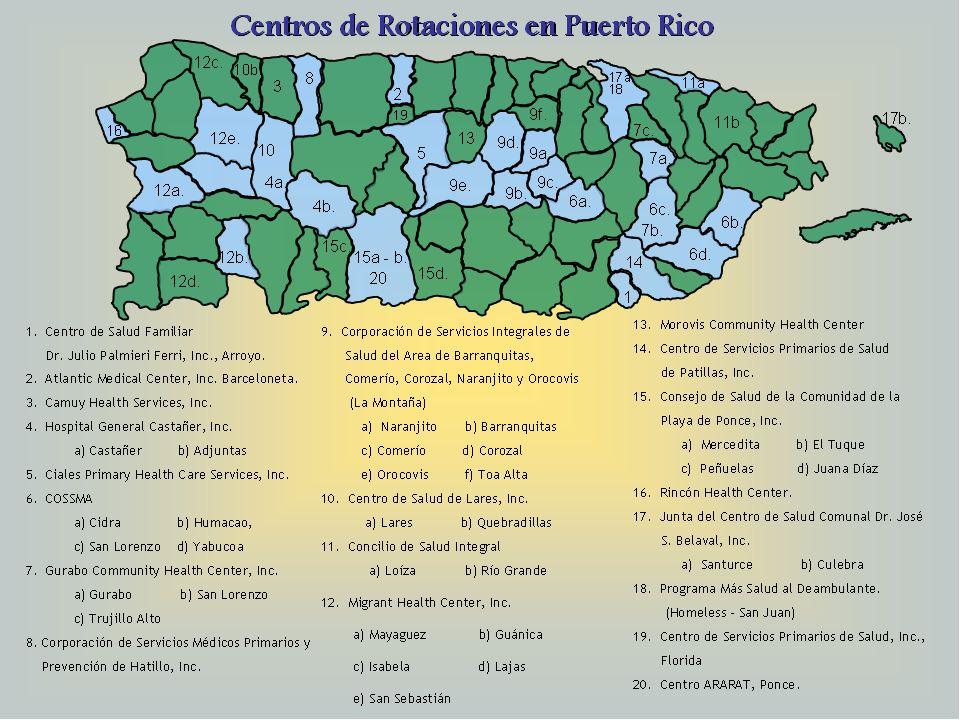 Esto son los centros de Rotaciones disponible En Puerto Rico