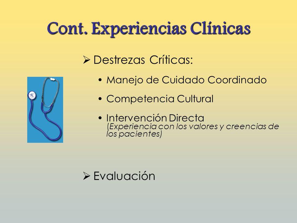 Cont. Experiencias Clínicas