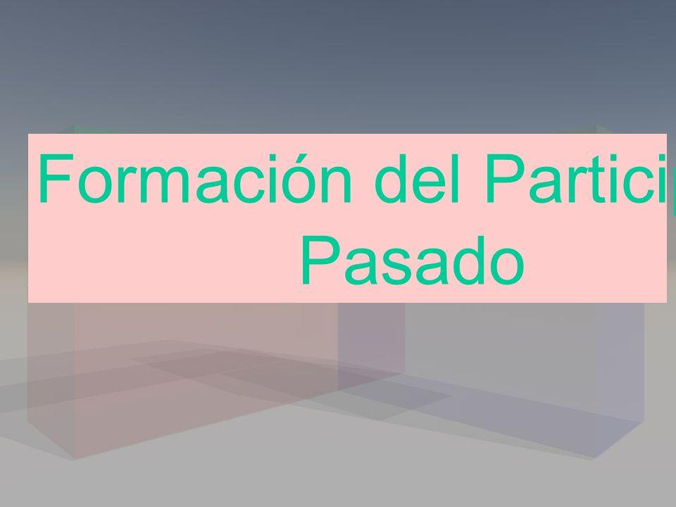 Formación del Participio