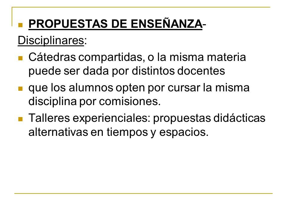 PROPUESTAS DE ENSEÑANZA-