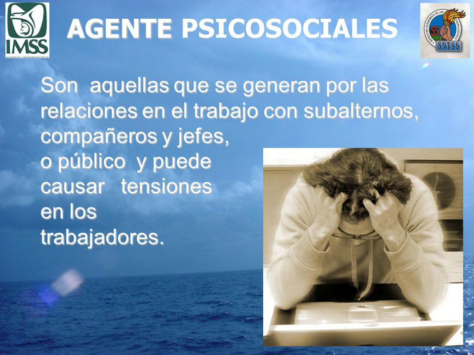 AGENTE PSICOSOCIALES