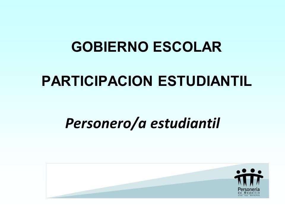 GOBIERNO ESCOLAR PARTICIPACION ESTUDIANTIL