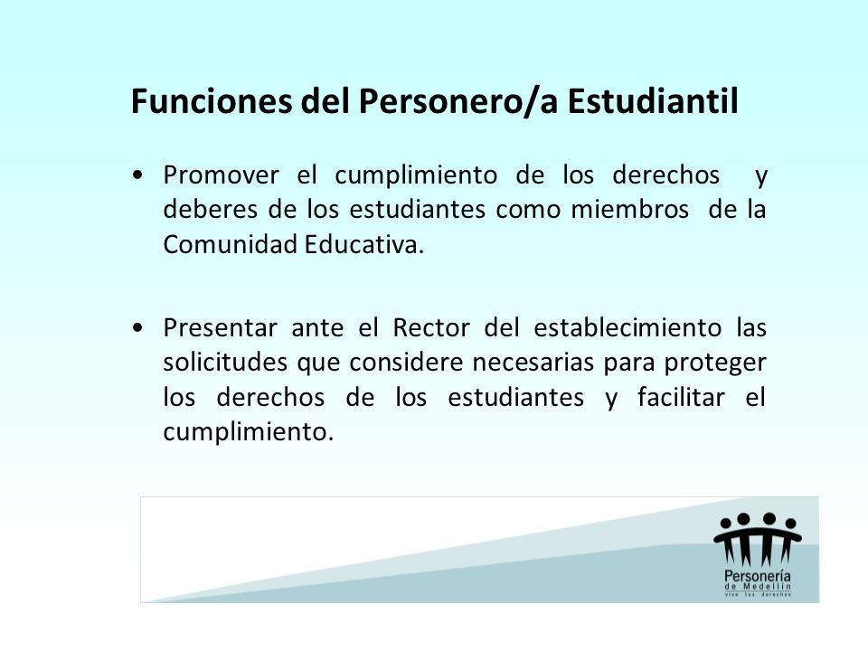 Funciones del Personero/a Estudiantil