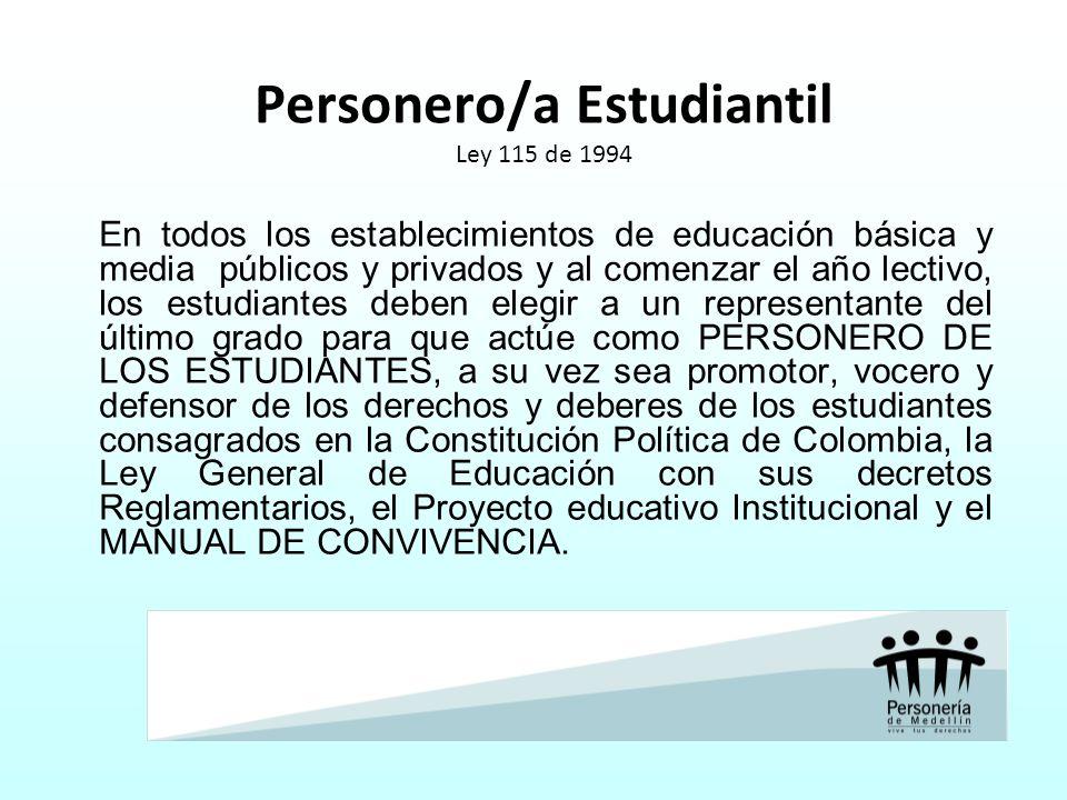 Personero/a Estudiantil Ley 115 de 1994