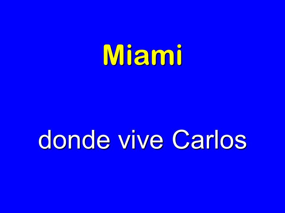 Miami donde vive Carlos