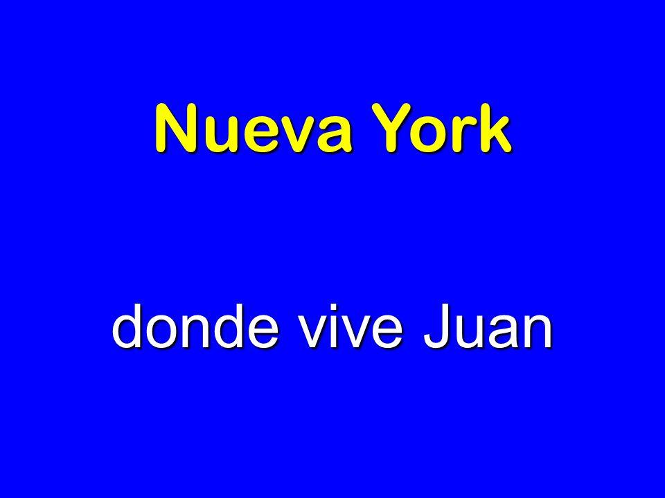 Nueva York donde vive Juan