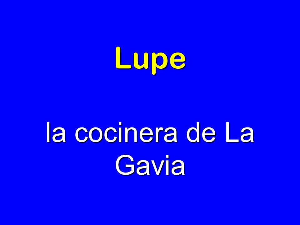 Lupe la cocinera de La Gavia
